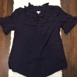 Anthropologie Ordille Navy Blouse
